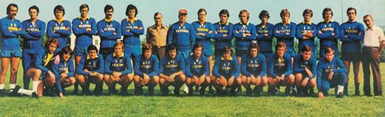 La formazione del Verona stagione 1975/76, finalista di Coppa Italia